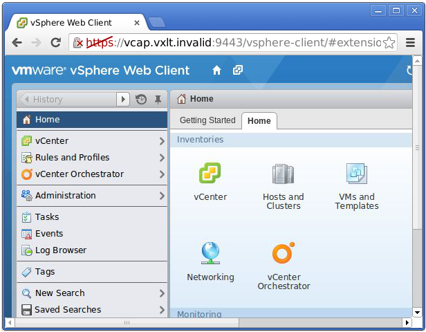 Linux and the Web Client in vSphere 5.5